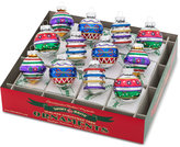 Christopher Radko Shiny Brite Traditional Brights Decorated Rounds & Shapes Boxed Ornaments, 12-Pc. Set