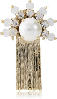 Jimmy Choo PHILO White Mix Metal with Crystals and Pearls Shoe Buttons