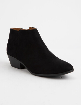 Soda Sunglasses Faux Suede Black Womens Booties