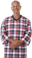 Silverts Disabled Elderly Needs Mens Flannel Open Back Adaptive Hospital Patient Gowns