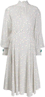 Christopher Kane Polka Dot Tie Neck Dress