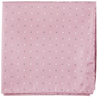 Tie Bar Suited Polka Dots Soft Pink Pocket Square