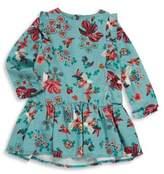 Catimini Toddler's, Little Girl's & Girl's Long Sleeve Floral Print Cotton Dress