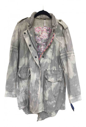 Free People Green Cotton Jackets