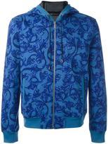 Versace 'Barocco' printed hoodie - men - Cotton/Polyamide/Spandex/Elastane - S