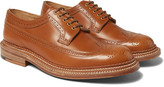 Grenson Sid Triple-Welted Leather Wingtip Brogues