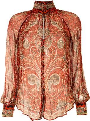 Camilla Paisley Print Blouse