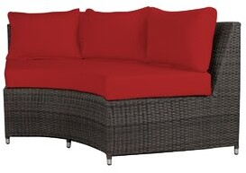Jockey Brayden Studio Rorie Round Sofa with Cushions Brayden Studio Color: Sunbrella Red