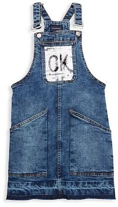 Calvin Klein Girl's Sequined Denim Skirtall