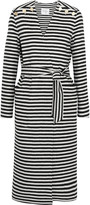 Max Mara Striped wool and angora-blend coat