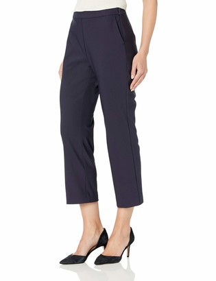 Lark & Ro Women's Stretch Crop Kick Flare Pant - Curvy