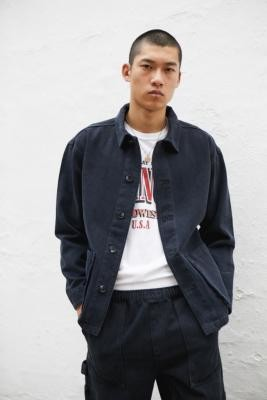 BDG Blue Chore Jacket - Grey S at Urban Outfitters
