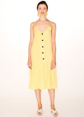 PepaLoves Pastel Yellow Safari Dress - xs