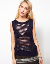 Edun Fishnet Knitted Tank Top