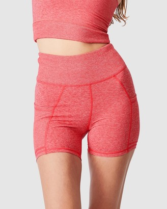 Cotton On Body Active - Women's Red Tights - Lifestyle So Soft Highwaisted Shorties - Size XS at The Iconic
