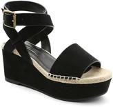 Kensie Teal Platform Wedge Sandal