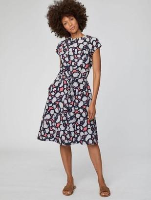 Thought - RhubarbTegora Dress - 8 - Black/White/Pink