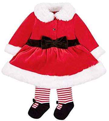 Mothercare Baby Girls' Mrs Santa Bodysuit,(manufacturer Size:62)