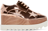 Stella McCartney Copper Star Platform Elyse Derbys