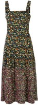 Tory Burch sequined floral-print midi dress