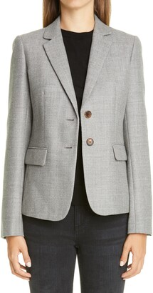 Lafayette 148 New York Thatcher Wool & Silk Blazer