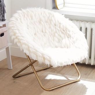Pottery Barn Teen Winter Fox Faux-Fur Hang-A-Round Chair