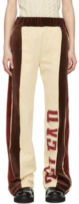 Telfar Brown and Off-White Velour Lounge Pants