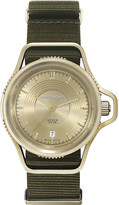 Givenchy GY100181s11 Seventeen yellow gold-plated and leather watch