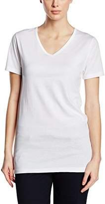 Trigema Women's Damen V-Shirt-Slim Fit T (Weiß 001)