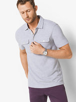 Michael Kors Two-Pocket Cotton And Linen Polo Shirt