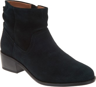 Vionic Suede Slouch Ankle Boots - Kanela