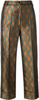 Jucca geometric print cropped trousers - women - Cotton/Polyester - 40