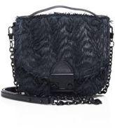 Loeffler Randall Fringed Leather Saddle Bag