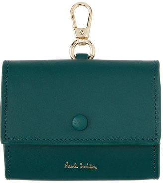 Paul Smith Leather Clip-On Coin Pouch Keychain