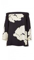 Tibi Amara Print Off-the-Shoulder Top