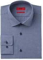 HUGO BOSS HUGO Men's Slim-Fit Navy Micro Check Dress Shirt