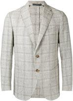Eleventy checked, slim-fitting blazer