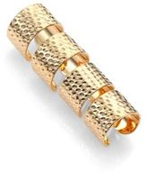 Maison Margiela Knuckle Duster Textured Four-Band Ring Set