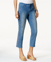 Style&Co. Style & Co Embroidered Capri Jeans, Only at Macy's