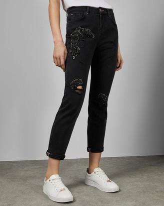 Ted Baker Sequin Detail Boyfriend Jeans
