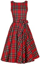 Kimring Women's 1950's Vintage Retro Valentines Plaid Belted A-Line Sleeveless Picnic Party Cocktail Swing Dress