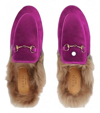 Gucci Princetown Pink Suede Flats