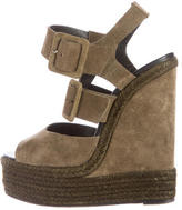Pierre Hardy Suede Wedge Sandals