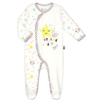 Camilla And Marc Baby Velour Pyjamas Pretty Planet - Ecru Size Birth (50 cm)