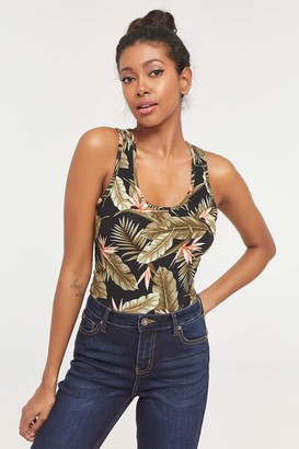 Ardene ME to WE Basic Floral Racerback Tank Top