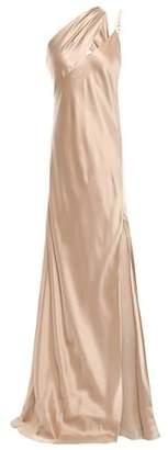 Mason by Michelle Mason One-shoulder Cutout Silk-charmeuse Gown