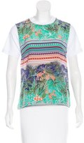 MSGM Short Sleeve Printed Top w/ Tags