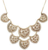 Lucky Brand Gold-Tone Flower and Lace Statement Necklace