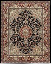 "Nourison Wool & Silk 2000 2005 Black 9'9"" x 13'9"" Area Rug"