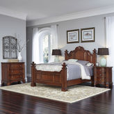 Asstd National Brand Rothwell Bed, 2 Nightstands and Chest